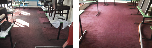 Restaurant Carpet Before and After